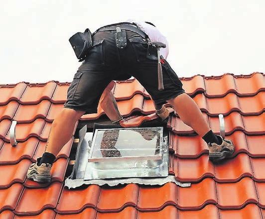 Beruf mit guten Aussichten: das Dachdeckerhandwerk.