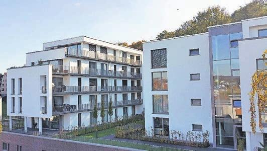 Wurden erst kürzlich bezogen: Neubauten mit Genossenschaftswohnungen der Wohnungsgenossenschaft Wuppertal-Mitte eG.